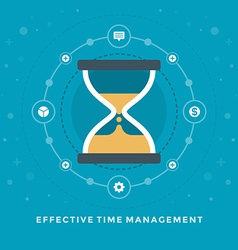 Flat design business effective time manageme vector