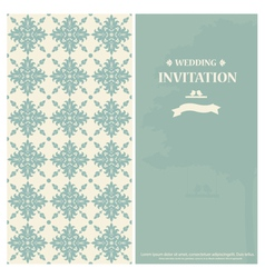 Wedding invitation card with vintage floral vector