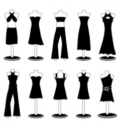 Woman fashion clothes vector