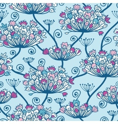 Spring flowers seamless pattern background vector