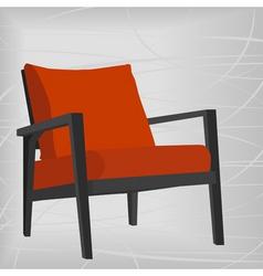 Retro modern chair vector
