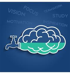 Idea faucet brain vector