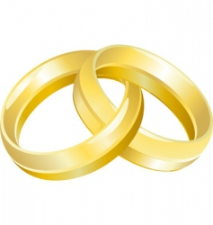 Wedding rings vector