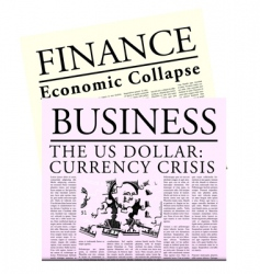Fictitious economical newspaper vector
