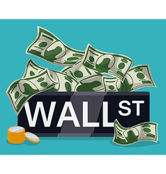Wall street design vector