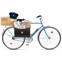 Postal bicycle vector