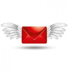 Winged mail vector