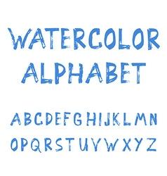 Grunge handmade calligraphy watercolor font vector