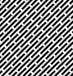 Abstract black and white grid for design vector
