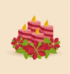 Christmas candles vector