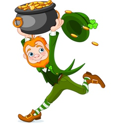 Running leprechaun vector