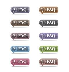 Faq symbols set eps10 vector