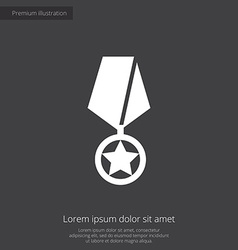 Medal premium icon vector