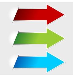 Colorful arrow tags vector
