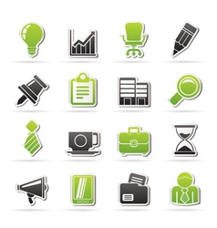 Business and office icons vector
