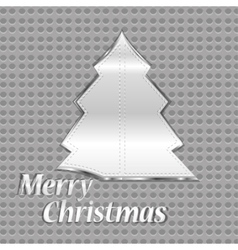 Abstract steel christmas tree vector