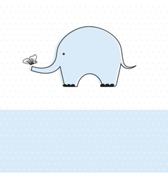 Baby boy shower card with cute elephant vector