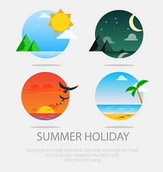 Summer icon set vector