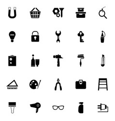 Diy icons on white background vector