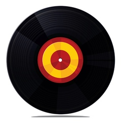 Vinyl record isolated on white vector
