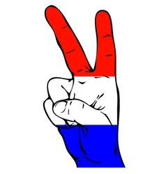 Peace sign of the dutch flag vector