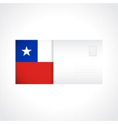 Envelope with chilean flag card vector