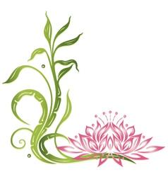 Lotus bamboo vector