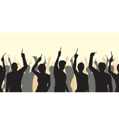 Pencil solidarity crowd vector