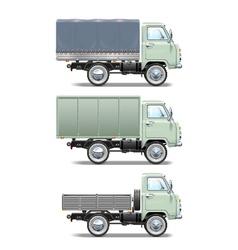 Retro light truck vector