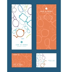 Colorful glasses vertical frame pattern vector