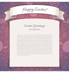 Happy easter poster with copy space vector