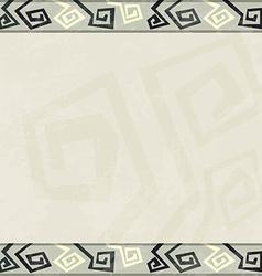 Abstract retro seamless border vector
