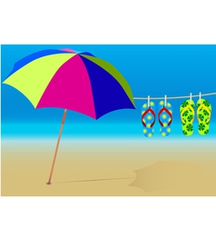 Holiday beach vector