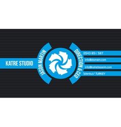 Blue creative business card vector