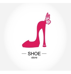Logo shoe store shop fashion collection boutique vector