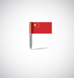 China flag pin vector
