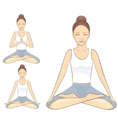 Meditation poses vector