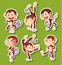 Monkeys set vector