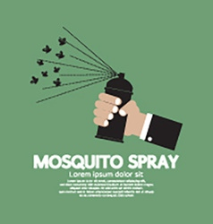 Mosquito spray in hand vector
