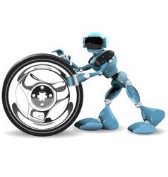 Robot and wheel vector