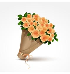 Bouquet of yellow roses isolated vector
