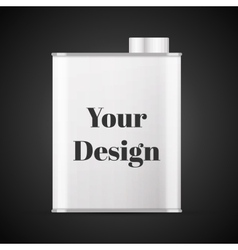 Olive oil can with blank space for general purpose vector