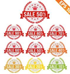 Sale discount tag - - eps10 vector