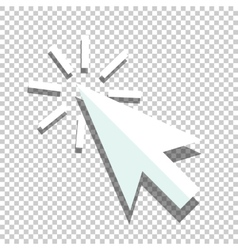 Flat coursor icon vector