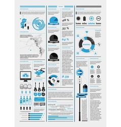 Infographics with a map vector