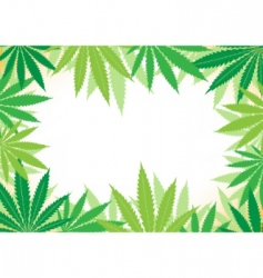 Hemp white background vector