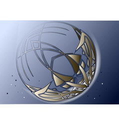 Abstract crescent moon vector