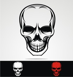Tribal skulls vector