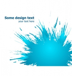 Blue paint splashes background illustration vector