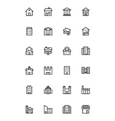 Buildings and furniture 1 vector
